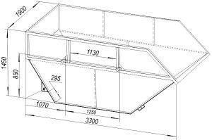 Размеры контейнера 8 м3
